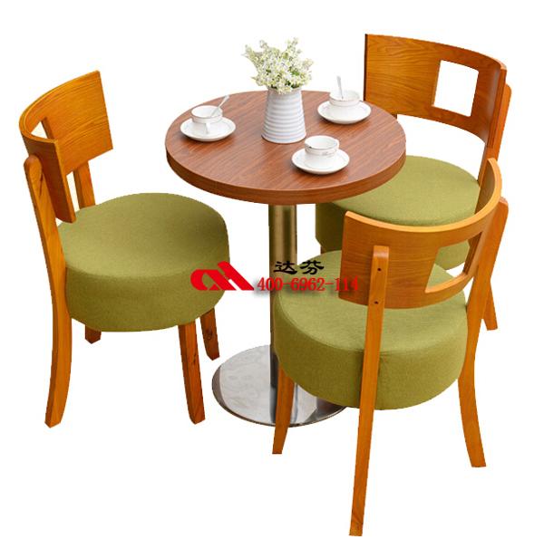 实木椅子,小圆桌