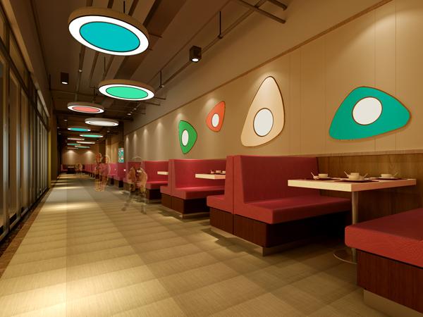 随随便便买些快餐桌椅就可以开张营业了,要考虑到与餐厅装修的风格
