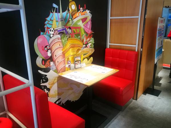 面馆卡座沙发桌椅标准化定制